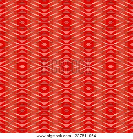 Seamless Background Southeast Asian Retro Aboriginal Traditional Art Textile Pattern Check Stitch Cr