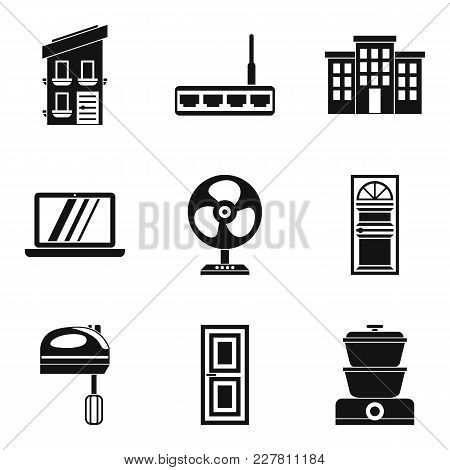 Smart House Icons Set. Simple Set Of 9 Smart House Vector Icons For Web Isolated On White Background