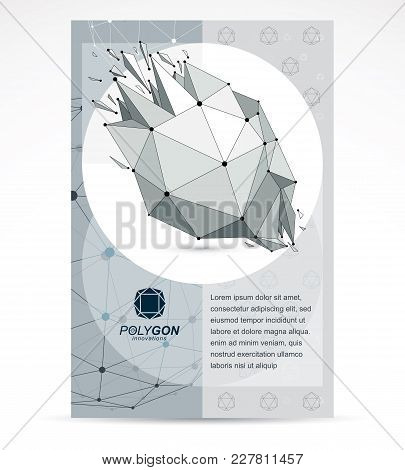 Communication Technologies Business Corporative Flyer Template. Graphic Vector Illustration. Abstrac