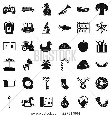 Infant School Icons Set. Simple Set Of 36 Infant School Vector Icons For Web Isolated On White Backg