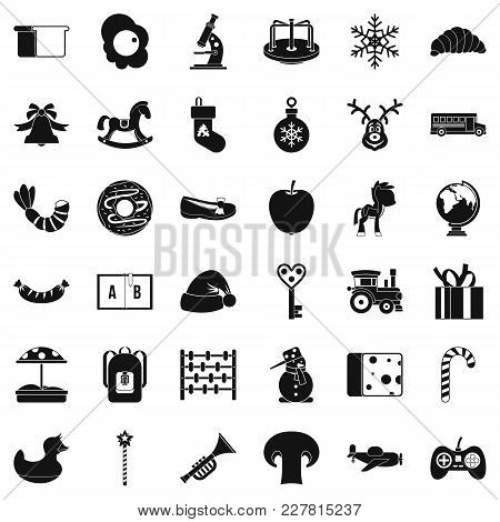 Preparatory Class Icons Set. Simple Set Of 36 Preparatory Class Vector Icons For Web Isolated On Whi