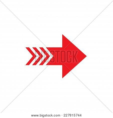 Arrow. Isolated Vector Icon, Sign, Emblem, Pictogram. Cursor, Navigation Concept. Flat Style For Des