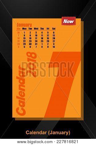 Calendar Ui January Illustration Vector Image Design