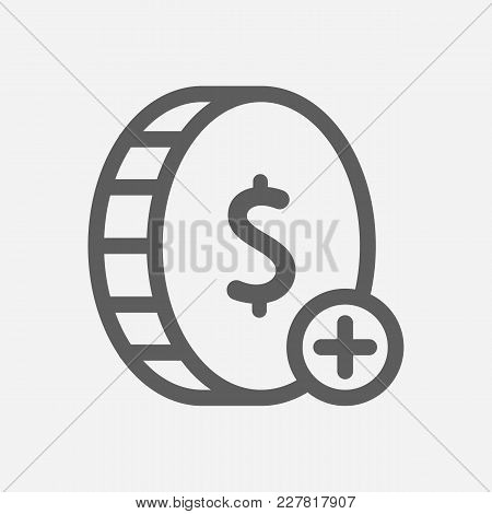 Win Money Icon Line Symbol. Isolated Vector Illustration Of Win Coin Sign Concept For Your Web Site