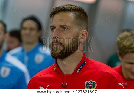 Vienna, Austria, 2017/11/14:  Guido Burgstaller At Friendly International Soccer Match Austria Vs Ur