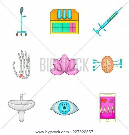 Medical Advice Icons Set. Cartoon Set Of 9 Medical Advice Vector Icons For Web Isolated On White Bac