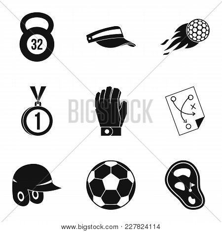 Sport Stock Icons Set. Simple Set Of 9 Sport Stock Vector Icons For Web Isolated On White Background