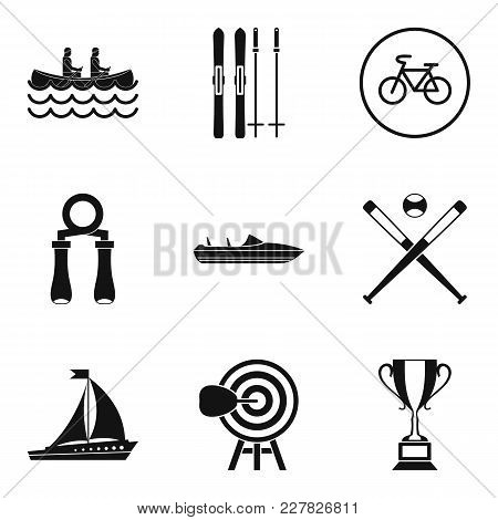 Sport Section Icons Set. Simple Set Of 9 Sport Section Vector Icons For Web Isolated On White Backgr