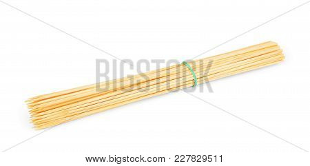 Toothpick On White Background With Copy Space, Toothpick Spill, Toothpick Slant, Toothpick Splatter