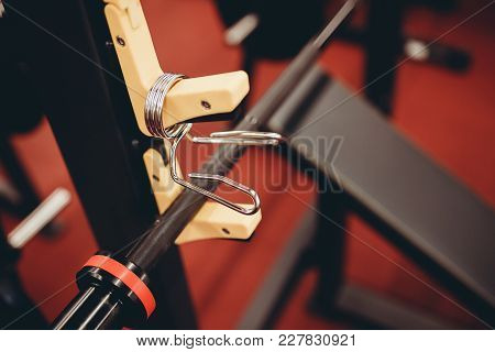 Weight Lock, Clamp Barbell For Disk. Equipment Tools For Sport Gym