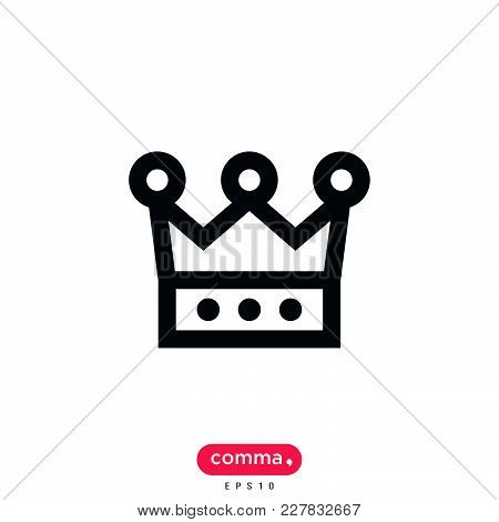 Crown Icon Isolated On White Background. Crown Icon Modern Symbol For Graphic And Web Design. Crown