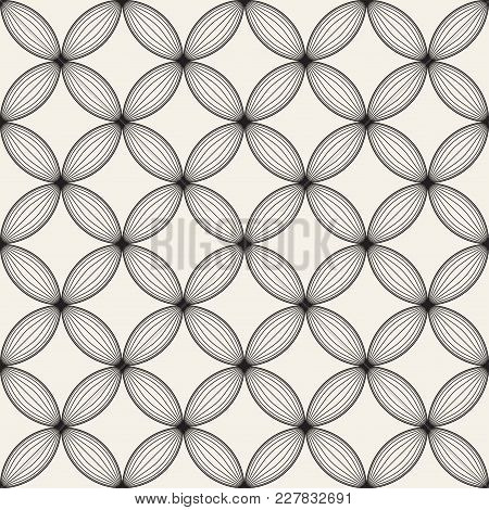 Vector Seamless Lattice Pattern. Modern Stylish Texture With Monochrome Trellis. Repeating Geometric
