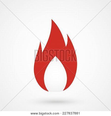 Fire. Icon For Design. Flat Modern Vector Illustration