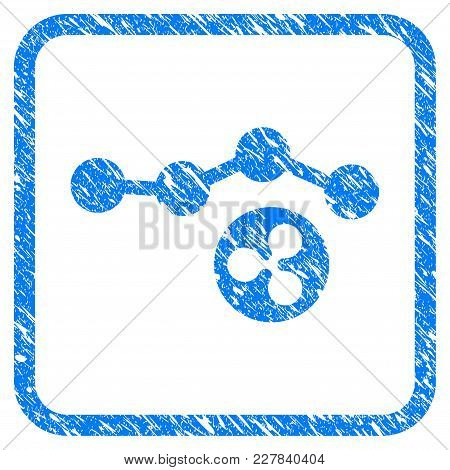 Ripple Trend Rubber Seal Stamp Watermark. Icon Vector Symbol With Grunge Design And Dust Texture Ins