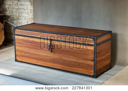 Wooden Chest Made Of Solid Teak