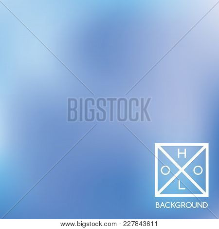 Indigo Background. Iridescent Cover.  Abstract Neon Colors Foil.  Trendy Creative Vector Cosmic Grad