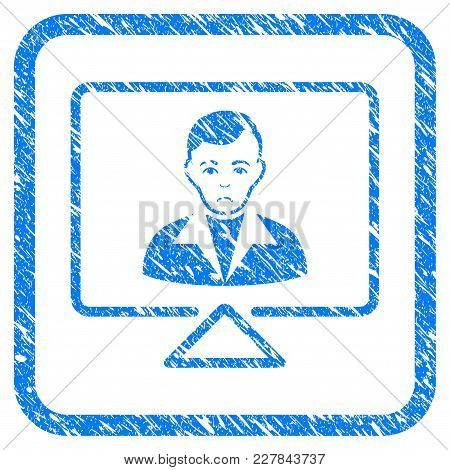 Video Contact Rubber Seal Stamp Watermark. Icon Vector Symbol With Grunge Design And Unclean Texture