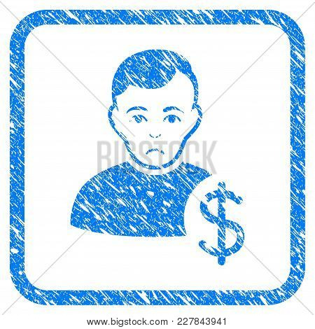 User Dollar Rubber Seal Stamp Imitation. Icon Vector Symbol With Grunge Design And Corrosion Texture