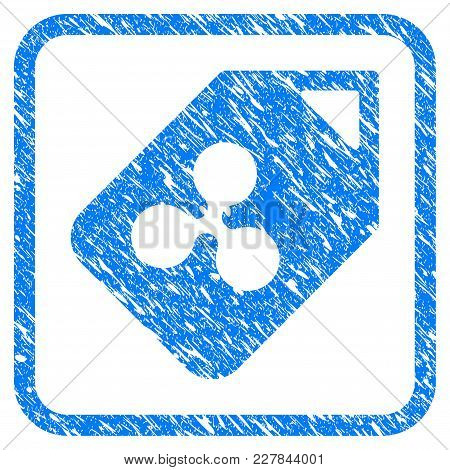 Ripple Tag Rubber Seal Stamp Watermark. Icon Vector Symbol With Grunge Design And Dirty Texture Insi