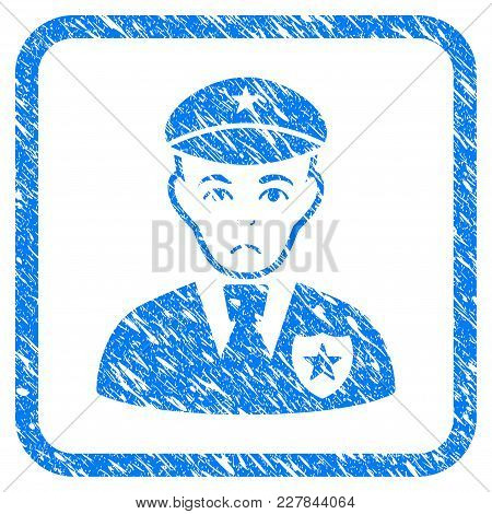 Sheriff Rubber Seal Stamp Imitation. Icon Vector Symbol With Grunge Design And Dust Texture Inside R