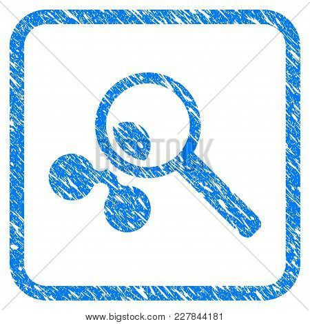 Search Ripple Rubber Seal Stamp Watermark. Icon Vector Symbol With Grunge Design And Dirty Texture I