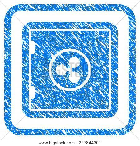 Ripple Safe Rubber Seal Stamp Watermark. Icon Vector Symbol With Grunge Design And Unclean Texture I