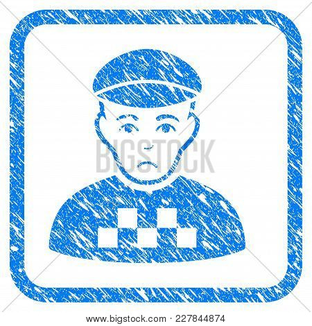Taxi Driver Rubber Seal Stamp Watermark. Icon Vector Symbol With Grunge Design And Dust Texture In R