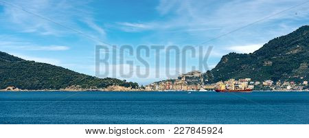 Cityscape Of Porto Venere Or Portovenere (unesco World Heritage Site), Seen From The Golfo Dei Poeti