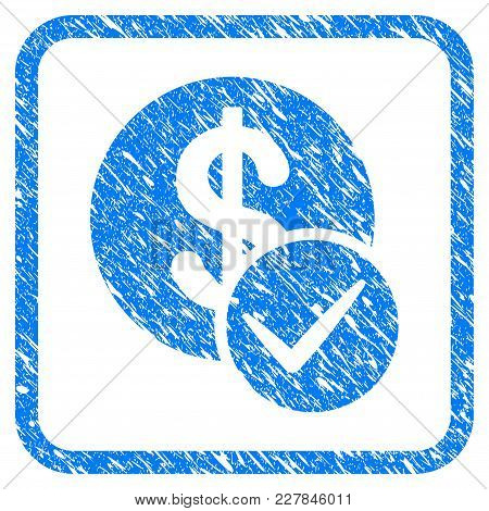 Valid Dollar Coin Rubber Seal Stamp Watermark. Icon Vector Symbol With Grunge Design And Unclean Tex