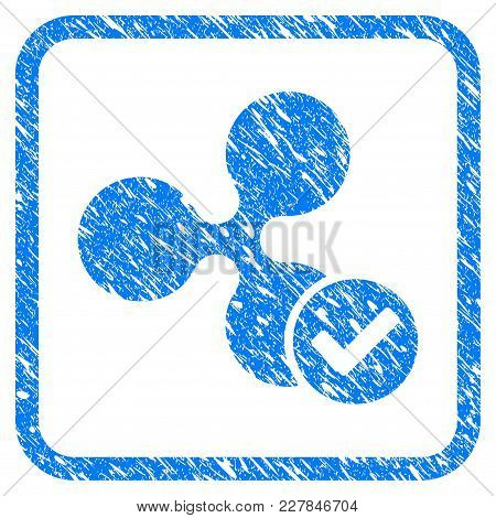 Ripple Valid Rubber Seal Stamp Imitation. Icon Vector Symbol With Grunge Design And Dirty Texture In