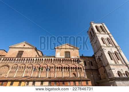 St. George Cathedral (cattedrale Di San Giorgio - 1135) With The Bell Tower In Renaissance Style, In