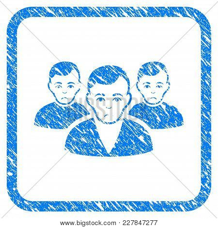 User Group Rubber Seal Stamp Watermark. Icon Vector Symbol With Grunge Design And Unclean Texture In