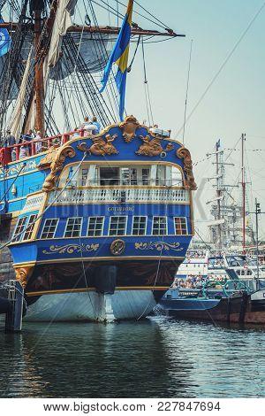 Amsterdam, Netherlands - August 20: Sail Amsterdam 2015 Is An Immense Flotilla Of Tall Ships, Mariti
