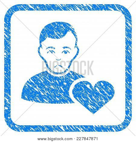 User Favourites Heart Rubber Seal Stamp Imitation. Icon Vector Symbol With Grunge Design And Dirty T