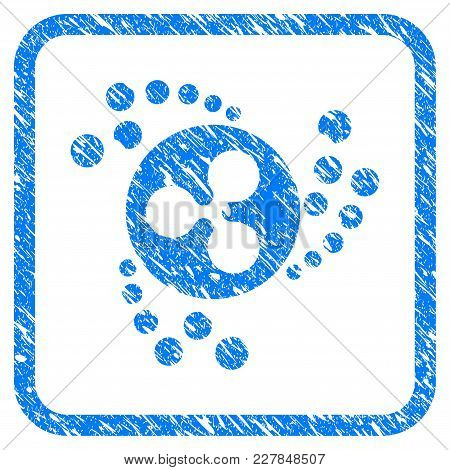 Ripple Swirl Rubber Seal Stamp Watermark. Icon Vector Symbol With Grunge Design And Corrosion Textur