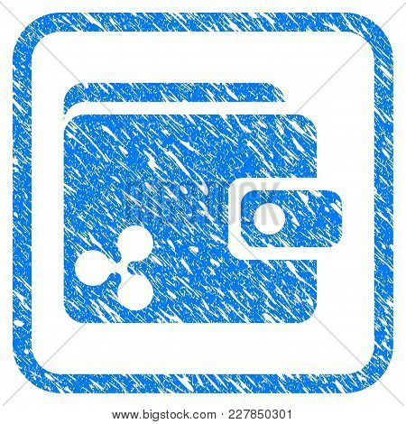 Ripple Wallet Rubber Seal Stamp Watermark. Icon Vector Symbol With Grunge Design And Unclean Texture