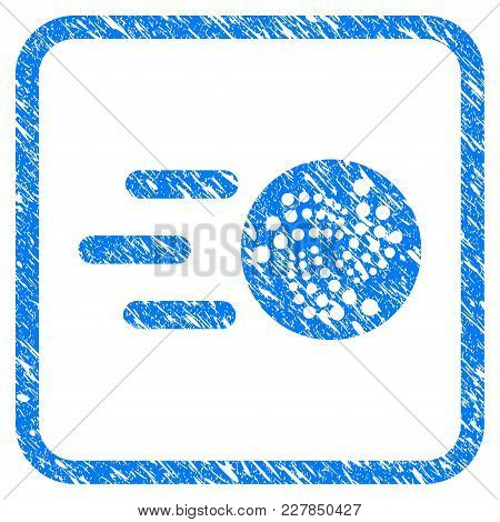 Send Iota Rubber Seal Stamp Imitation. Icon Vector Symbol With Grunge Design And Unclean Texture In