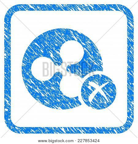 Ripple Reject Rubber Seal Stamp Watermark. Icon Vector Symbol With Grunge Design And Corrosion Textu
