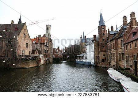 A Beautiful Architectural Landscape Of The City Brugge