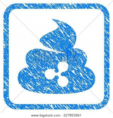 Ripple Shit Rubber Seal Stamp Watermark. Icon Vector Symbol With Grunge Design And Unclean Texture I