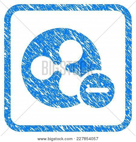 Ripple Remove Rubber Seal Stamp Watermark. Icon Vector Symbol With Grunge Design And Dust Texture In