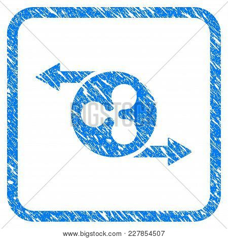 Ripple Spend Arrows Rubber Seal Stamp Imitation. Icon Vector Symbol With Grunge Design And Corrosion