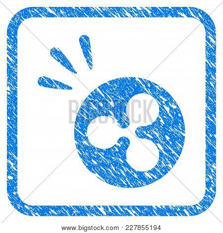 Ripple Shine Rubber Seal Stamp Imitation. Icon Vector Symbol With Grunge Design And Corrosion Textur