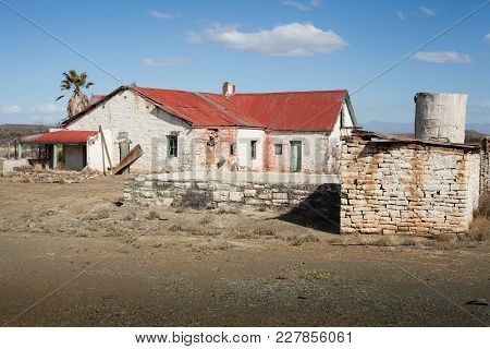 Old Abandoned Farm House In The Karoo Region Of South Africa.