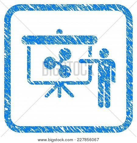 Ripple Public Report Rubber Seal Stamp Watermark. Icon Vector Symbol With Grunge Design And Unclean