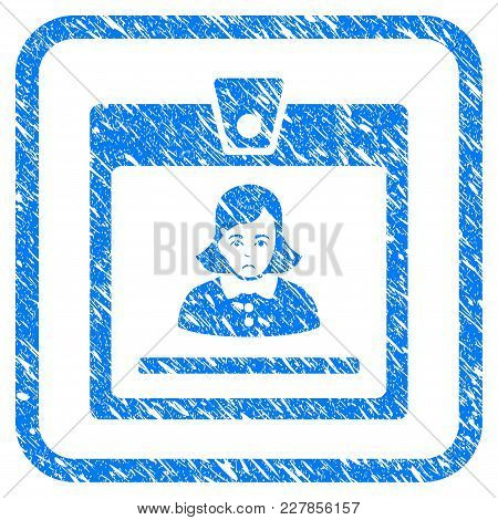Woman Badge Rubber Seal Stamp Imitation. Icon Vector Symbol With Grunge Design And Dirty Texture Ins