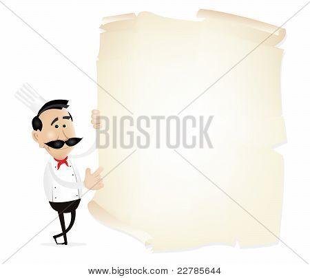 List Menu On A Parchment