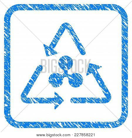 Ripple Recycling Rubber Seal Stamp Imitation. Icon Vector Symbol With Grunge Design And Unclean Text