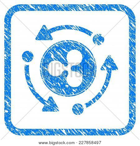 Ripple Turnover Rubber Seal Stamp Watermark. Icon Vector Symbol With Grunge Design And Dust Texture