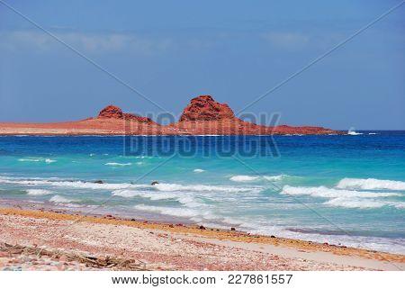 The Beach Of Dihamri On The Beautiful Island Of Socotra, Yemen, Africa